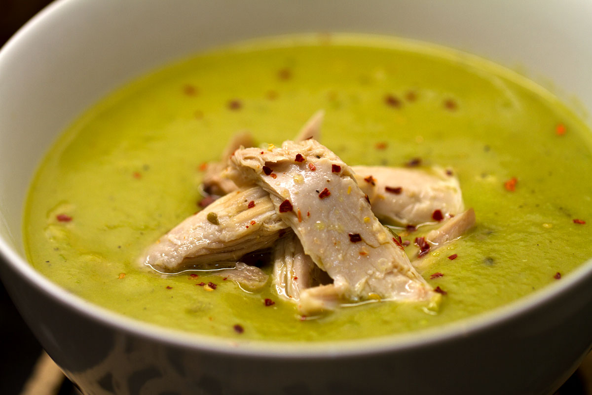 Leek Potato and Pea soup with Chicken and Chilli….and the cure for ...
