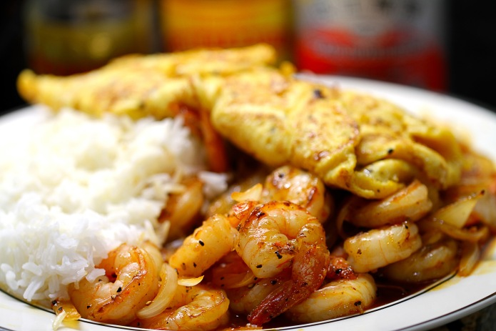 chilli prawns