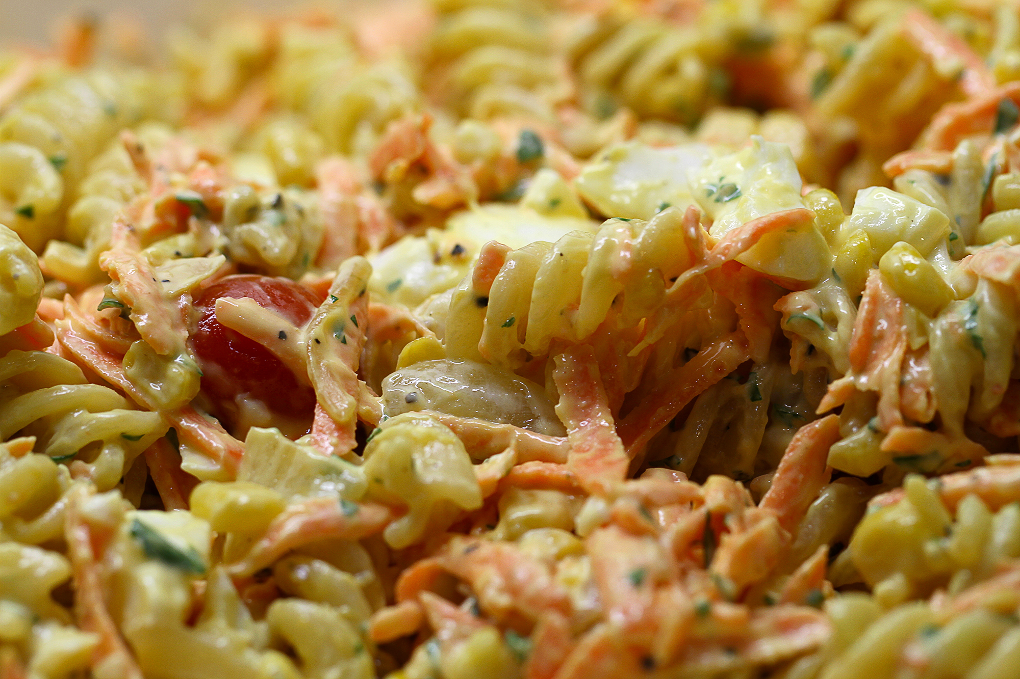 ... and delicious cold pasta salad with Thousand Island dressing. clinic